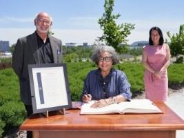 iciHaiti - Diaspora : Haitian Marjorie Villefranche receives the title of «Honorary Citizen of Montreal»