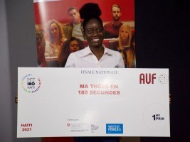 iciHaiti - Culture : Valendy Thesnor, 2021 laureate of the «My thesis in 180 seconds» competition