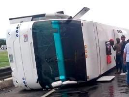 iciHaiti - Mexico : A bus of Haitian migrants overturns, at least 33 victims