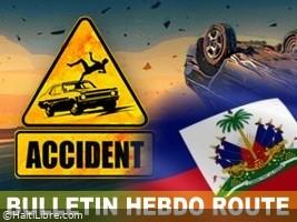 iciHaïti - Hebdo-route : 30 accidents, au moins 83 victimes