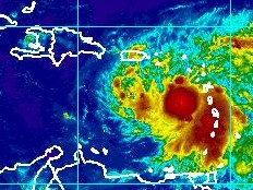 Haiti - Weather : Emily is coming, Haiti in red...