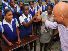 Haiti - Education: The President Martelly to Arcahaie and Saint-Marc