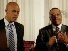 Haiti - Politic : Press conference Martelly - Conille