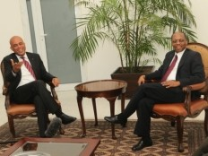 Haiti - Politic : Historic meeting Martelly-Aristide