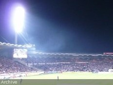 Haiti - Sports : Lighting of Sylvio Cator stadium , the most modern of the Caribbean