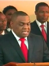 Haiti - Justice : Installation of the new Minister of Justice, Michel Brunache
