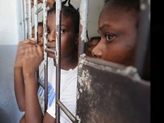 Haiti - Social : Sophia Martelly, concerned following her visit to the prison of Petion-Ville