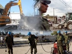 Haiti - Reconstruction : Engineering companies of the Minustah at work