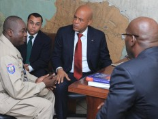 Haiti - Security : The President Martelly visited the HQ of the CIMO