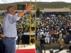 Haiti - Reconstruction : The President Martelly attended a colloquium on regional development