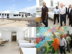 Haiti - Health : President Martelly in Mirebalais to see the progress of work of the University Hospital