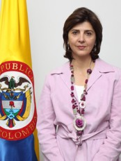 Haiti - Politic : The Colombian Chancellor María Ángela Holguín in Haiti today