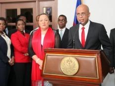 Politique : le président martelly est de retour au pays (discours