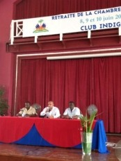 Haiti - Politic : Laurent Lamothe participates in the retreat of Deputies