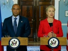 Haiti - Politic : Statements of  Hillary Clinton and Laurent Lamothe in Washington DC