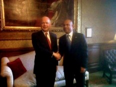 Haiti - Diplomacy : Laurent Lamothe met UK Chancellor, William Hague