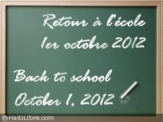 Haiti - Education : Back to school postponed to October 1st