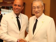 Haiti - Taiwan : The President Martelly met the Vice-President Mr. Wu Den-Yih