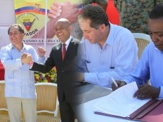 Haiti - Reconstruction : Martelly and Joazile in Petite Rivière de l'Artibonite