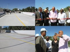 Haiti - Reconstruction : Opening of the new bridge Millet, to Frères