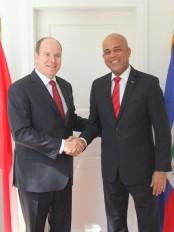 Haïti - Reconstruction : Le Président Martelly a rencontré le Prince Albert II de Monaco