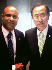 Haiti - Politic : Laurent Lamothe met Ban Ki-moon
