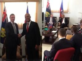 Haïti - Politique : Visite officielle du Gouverneur des Iles Turcs and Caicos