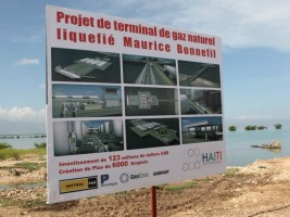 Haiti - Economy : LNG Gas terminal, official Launch of work