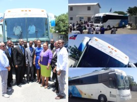 Haiti - Economy : Presentation of the first Bus prototype Made in Haiti