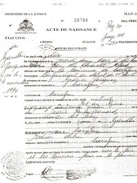 Haiti social haitian birth certificate available in for Haitian birth certificate template