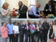 Haiti - Sports : Meeting Michel Martelly - Adonis Stevenson, at the National Palace