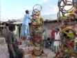 Haiti - Culture : Exhibition of Christmas trees made with recycled waste