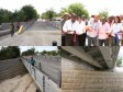 Haiti - Reconstruction : Inauguration of a bridge over the river Courjolle (Arcahaie)