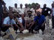 Haiti - Security : Laying the First Stone of the Sub-Police Station of Gris Gris
