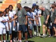 Haiti - Football : Two American coaches with young Haitians