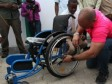 Haiti - Social : The Prime Minister with people with special needs