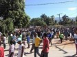 Haiti - Petit-Goâve : Students demonstrate with the opposition