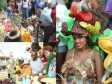 Haiti - Culture : Evans Paul and several ministers at the Carnival of Jacmel
