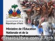 Haiti - Education : Demonstration outside the Ministry of National Education