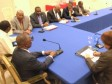 Haiti - Elections : Meeting in the Palace around the progress of the electoral process