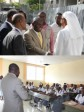 Haiti - Security : Minister Cadet visits schools victims of protesters attacks