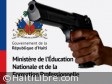 Haiti - Security : The Ministry of Education presents its sympathies...