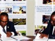 Haiti - Agriculture : Signing of an extremely important agreement