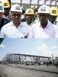 Haiti - Economy : Moïse visits the Extension works of the Metropolitan Industrial Park