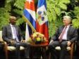 Haïti - Cuba : Jovenel Moïse rencontre le Président cubain Miguel Díaz-Canel