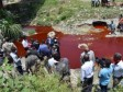 Haiti - Environment : The Rivière Grise suddenly turns red