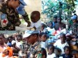 Haiti - Social : Children in Thomassin helped by the Nepalese Battalion 2