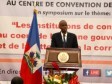 Haiti - Politic : Intervention of President Moïse at the symposium on corruption