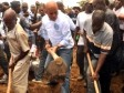 Haiti - Agriculture : The President Martelly alongside the peasants
