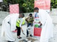 iciHaiti - Digiciel : Laying of the first stone of the Mixed Institution Notre Dame de l'Assomption